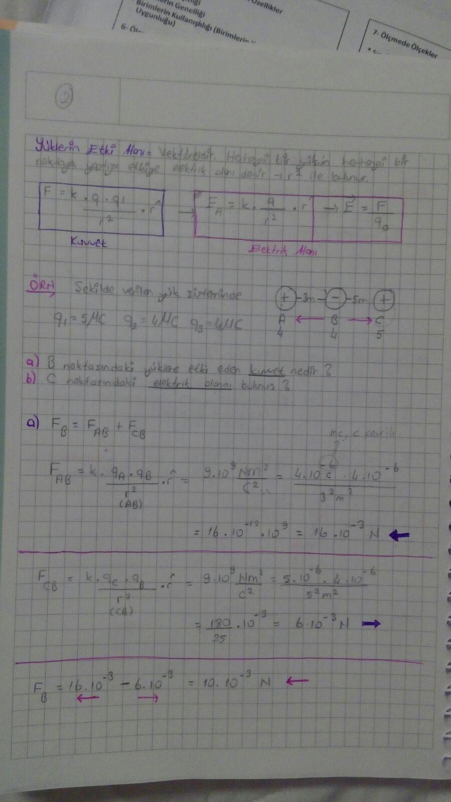 fizik elektriksel alan