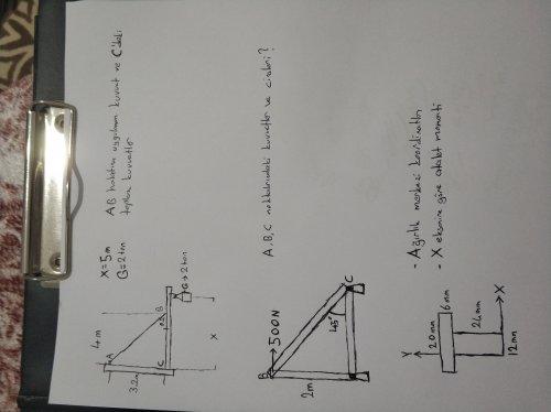 Statik (Fizik)  dersi çözemediğim sorular