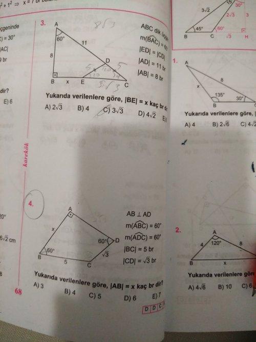 Geometri özel üçgen ler