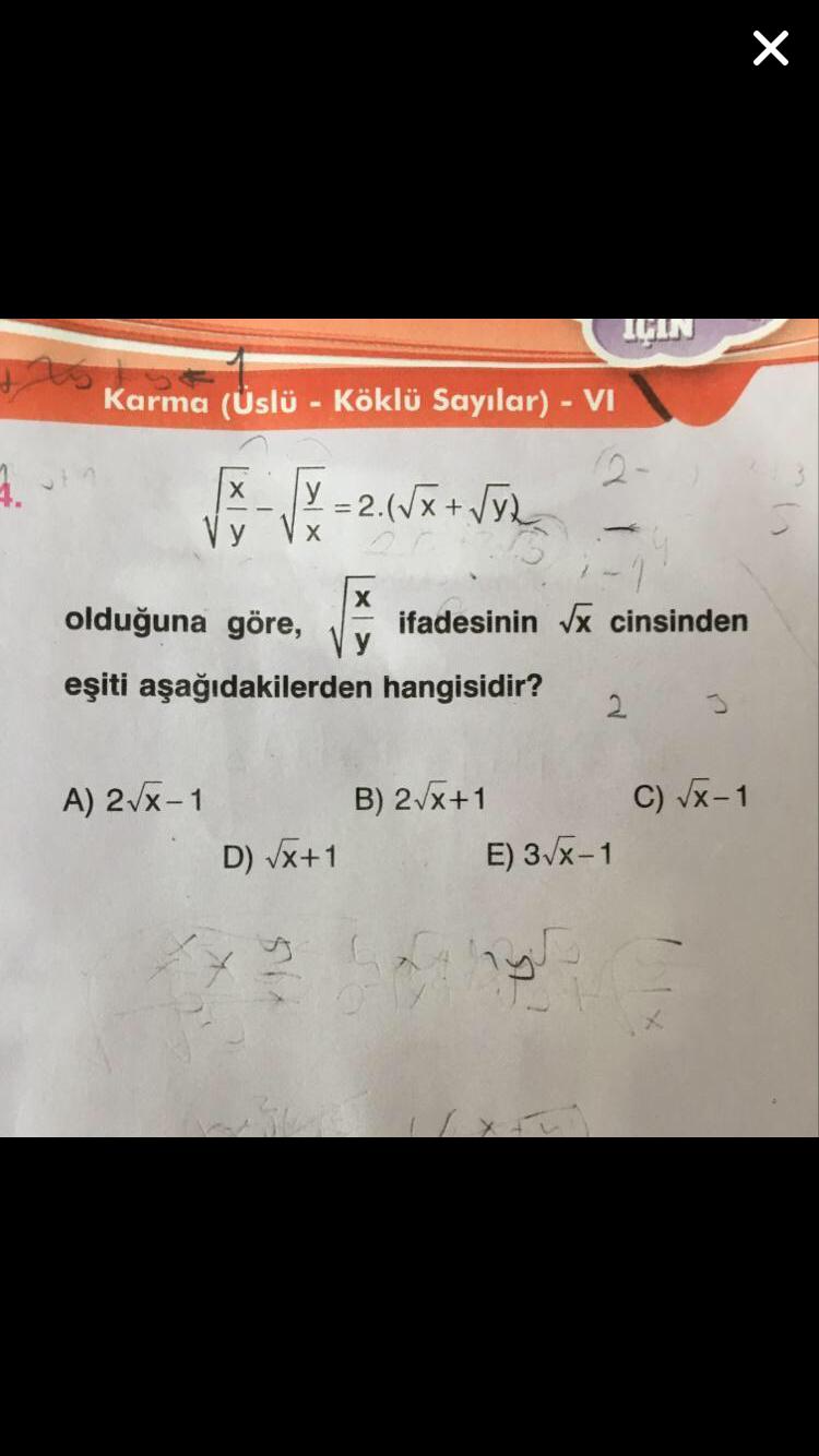 9.sınıf Matematik köklü sayılar yardım edinn