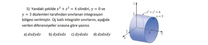 3 katlı integral